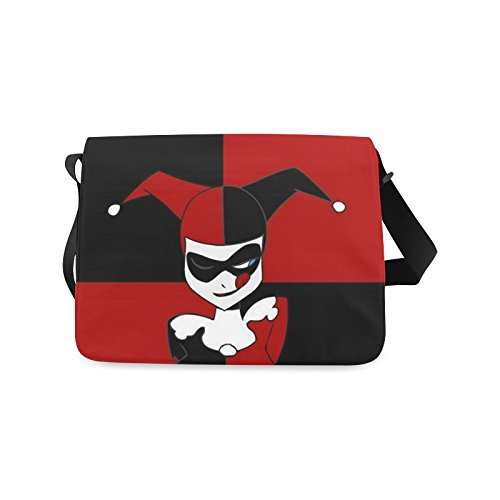 2buymore Custom School Bag Messenger Bag Harley Quinn 21.41 Oz Personalized Shoulder Bags Black (Messenger Bag Custom compare prices)