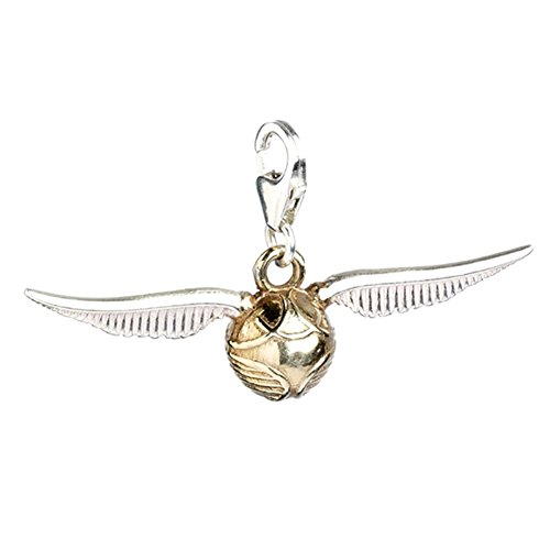 Official Sterling Silver Hogwarts Quidditch Golden Snitch Clip on Charm - Boxed