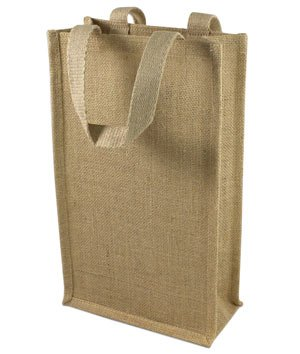 OnlineFabricStore Jute Wine Tote With Dividers - 2 Bottles at Sears.com
