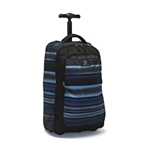 Quiksilver Wheeled Cabin Backpack Travel Bag 30Ltr - Polo Water Blue Stripe