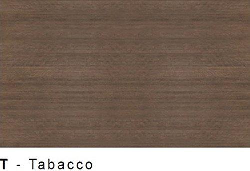 Parete soggiorno completo moderno Ream 21 - Larice Tabacco e Gesso Poro Aperto - Larghezza 240 cm