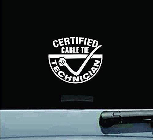 Certified Cable Tie Technician Zip Vinyl Decal Sticker (Tires Zip Ties compare prices)