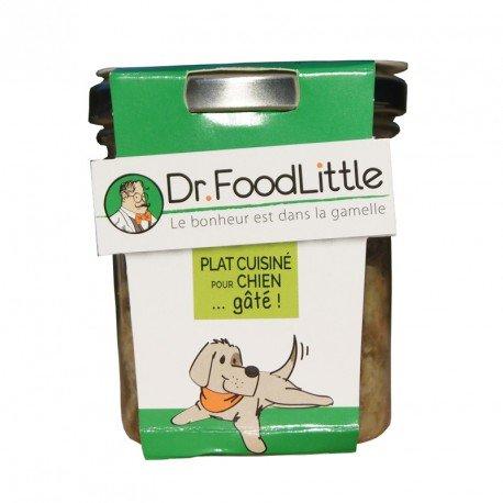 Dr FoodLittle - Plat cuisiné pour chien - Poulet, Haricots Verts, Boulgour
