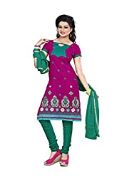 Shree Vardhman Synthetics Pink Semi Cotton Top Straight Unstiched Salwar Suit Dress Material