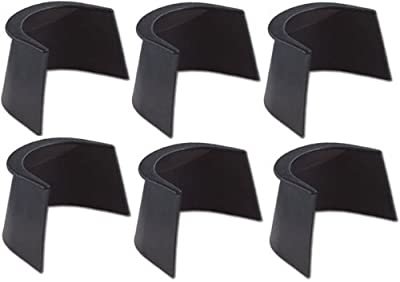 "4"" Pool Table Rubber Pocket Liners - Set of 6"