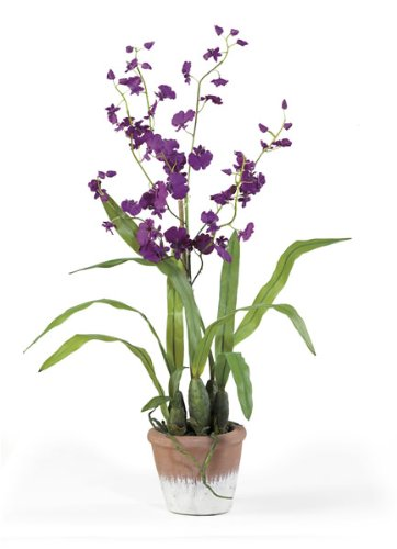 Dancing Lady Silk Flower Arrangement - Purple