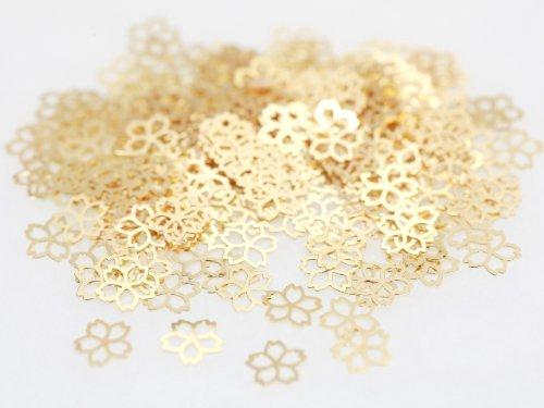 さくら 桜 約5mm×5mm ゴールド ネイルアートパーツ 透かしパーツ ジェルネイル レジン デコ 埋め込み 素材