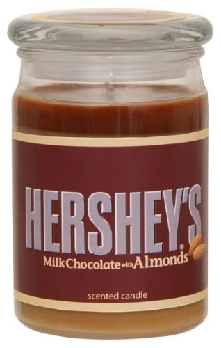Hershey's by Hanna's Candle 15-Ounce Milk Chocolate with Almonds Jar Candle