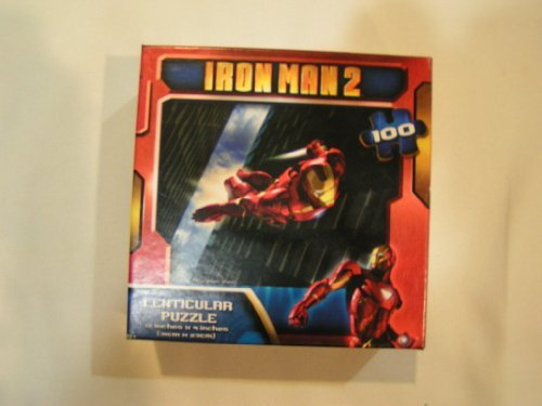 Iron Man 2 Flying 3D Lenticular Puzzle 100 pc by Cardinal - 1