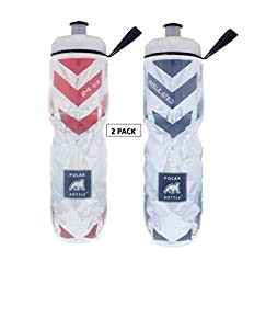 Polar Bottle (Black& Red Chevron Combo, 24- 2 Pack)
