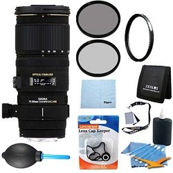 Sigma 70-200mm f/2.8 APO EX DG HSM OS FLD Large Aperture Telephoto Zoom Lens for Nikon Digital DSLR Camera With Cleaning Kit, Flash Bracket, Micro Fiber Cleaning Cloth, Card Wallet, Hoya UV Filter!, Lens Cap Cleaner and more!