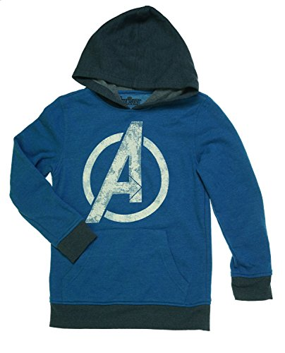 Avengers Boys' Logo Pullover Hoodie (Small) (Marvel Sweatshirt Kids compare prices)