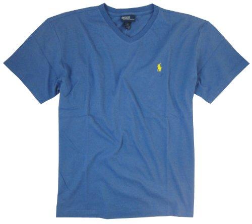 Polo Ralph Lauren V-Neck Shirt-(Medium, Carson Blue)