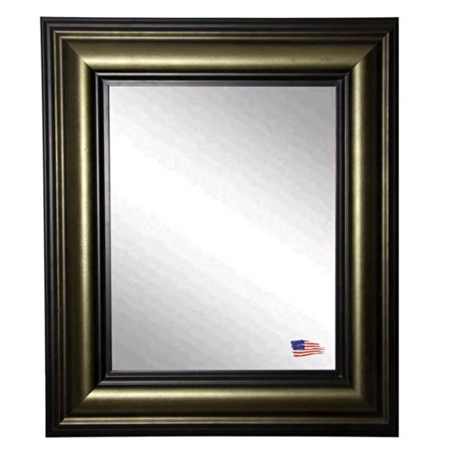 American Made Rayne Stepped Vintage Wall Mirror, 33 X 39 front-196263