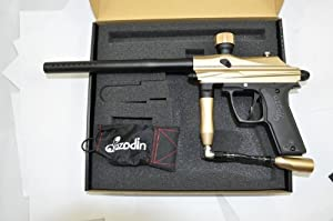 Buy Azodin Kaos Semi-Auto Paintball Gun - Gold Black by Azodin