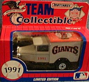 San Francisco Giants 1991 Matchbox MLB Diecast Ford Model A Truck White Rose Collectible Toy Car 1:64 Scale