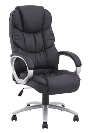 Black Pu Leather High Back Office Chair Executive Task Ergonomic Computer