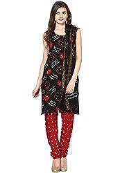 Soundarya Ethnicwear Bandhej Cotton Salwar Suit Dress Material for Women