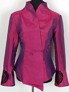 Blouson Veste Chinoise Fait à la Main Violet Tailles Disponibles: 34, 36, 38, 40, 42, 44, 46, 48, 50