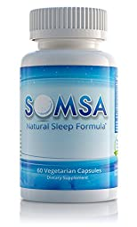 SOMSA Sleep Aid for Adults by Nature\'s Wellness, 60-Count | 100% Herbal Remedy Sleeping Pills, Safe & Effective Natural Insomnia Relief Supplement | Non-Habit Forming Blend Allows Deep Sleep & Rest