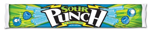 Sour Punch Straws Blue Razamatazz 2 Ounce Packages Pack of 24