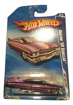 2010 Hot Wheels 159/240 Custom '59 Cadillac, Purple 1:64