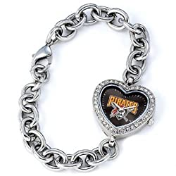 Pittsburgh Pirates Gametime Heart Bracelet/Watch