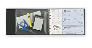 7-Ring 3-on-a-Page Business Check Book Binder