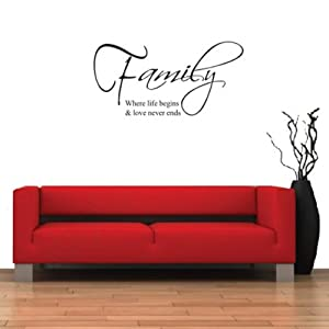 K9D DIY Family Love Quote Removable Vinyl Decal Wall Stickers Art Mural Home Decor 8.7 from K9D