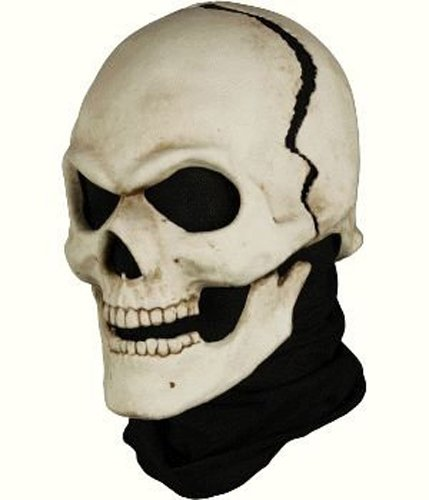 Adult Fractured Skull Halloween Costume Mask