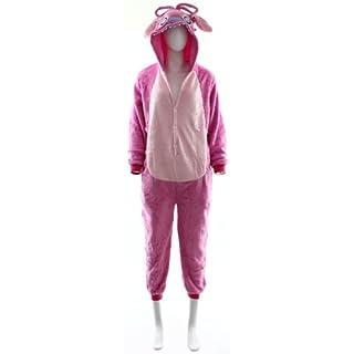 Fashion Wardrobe ONESIE Adult Pyjamas ANIMAL ZOO FANCY DRESS (UK 12 Large, Pink W400)