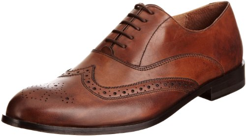 Hush Puppies Men's Beatty Dark Tan Leather Lace Up H1390802D 10 UK, 45 EU