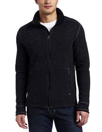 (超值)prAna Barclay Sweater 普拉娜 男士 男式羊毛混纺针织毛衣 咖啡色 $76.47