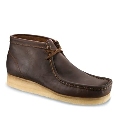 Clarks Men's Wallabee Boot Moc Toe Shoes,Beeswax Leather,15 M US
