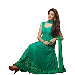 Rozdeal Women Brasso Salwar Suit Dress Material (Rdhp106-1451 _Green _Free Size)