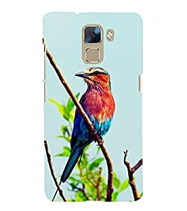 Colourful Sparrow 3D Hard Polycarbonate Designer Back Case Cover for Huawei Honor 7 :: Huawei Honor 7 Enhanced Edition :: Huawei Honor 7 Dual SIM