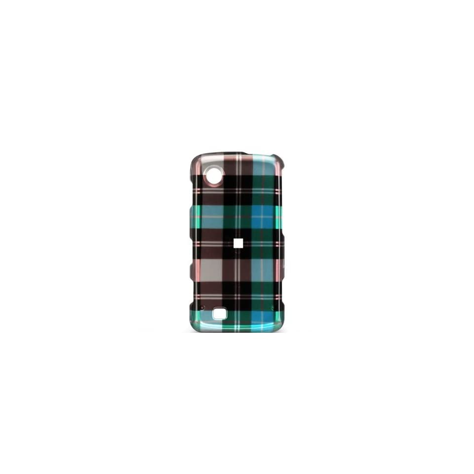 PACK BLUE CHECK Hard Plastic Graphic Cover Case for LG Chocolate Touch
