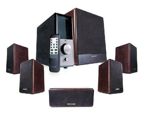 Microlab FC730 Aktivbox 5.1 FineCone Lautsprechersystem (84 Watt) Holz