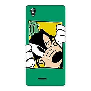 Delighted Sneeking Dog Multicolor Back Case Cover for Lava Iris 800