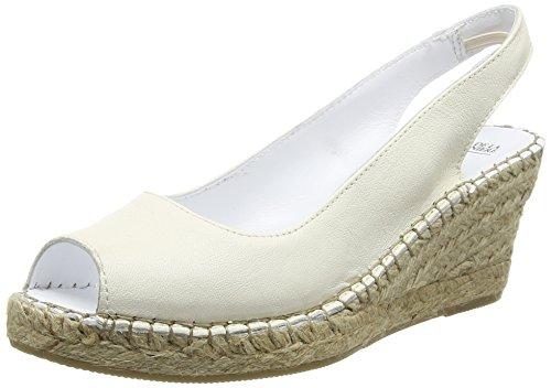 Fred de la BretoniereFred bestseller elegant open toe espadrille 7cm heel rope sole Alicante - Espadrillas Donna , Bianco (Bianco (bianco)), 41