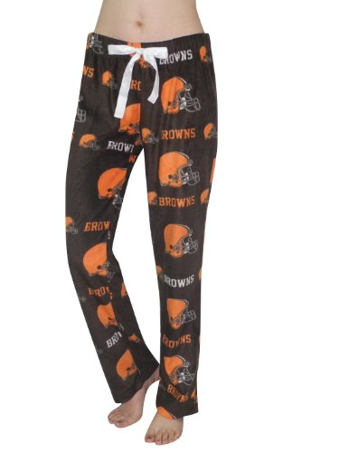 NFL Cleveland Browns Womens Polar Fleece Sleepwear / Pajama Pants L Brown at Amazon.com