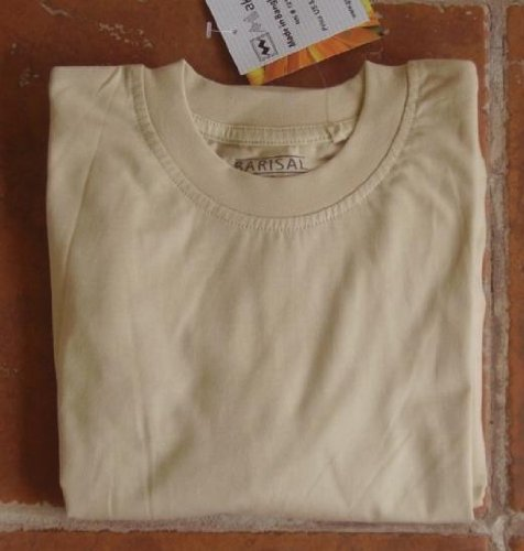 FREE SHIPPING: Sand Long Sleeve Pre-shrunk soft combed cotton Crew Neck T-Shirt