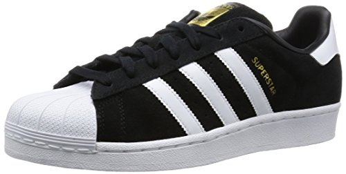 Adidas Superstar Suede - Scarpe da Basket uomo , Nero (Black (Core Black/Ftwr White/Core Black)), 44 2/3