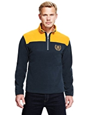 Blue Harbour Colour Block Half Zip Fleece Top with StayNEW™