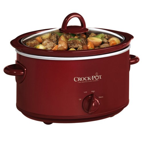 Crock-Pot SCV401TR 4-Quart Oval Manual Slow Cooker, Red (Crockpot Slow Cooker Red compare prices)