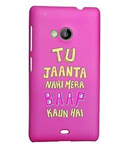 KolorEdge Back Cover For Microsoft Lumia 535 - Pink (2315-Ke15123Lumia535Pink3D)