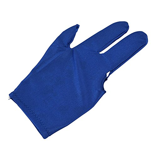 Find Cheap Cuesoul 10pcs/set 3 Finger Billiards Gloves Pool Cue Gloves (Blue)