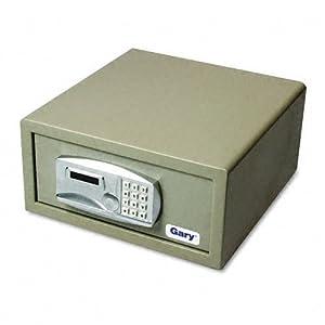 Laptop Safe, 1.2 capacity, 15-3/4w x 16-5/8d x 7-9/16h, Light Gray