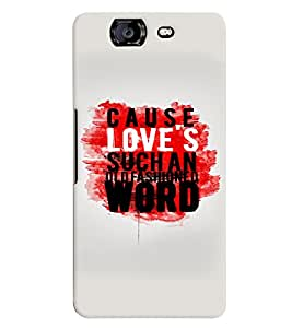 printtech Cause Quote Back Case Cover for Micromax Canvas Knight A350