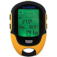 Elecsmart Sunroad FR500 Multifunction LCD Digital Altimeter Barometer Compass Thermometer Hygrometer Weather Forecast...